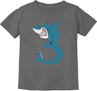 TeeStars - 3rd Birthday Shark Party Gift for 3 Year Old Toddler Kids T-Shirt