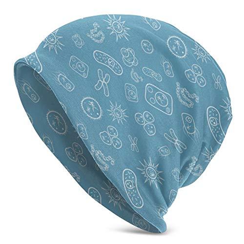 ZVEZVI Viele Bakterien und Viren unter dem Mikroskop Strickmütze Wintermütze Warme, Dehnbare weiche Mütze für Männer und Frauen , Ganzjähriger Komfort