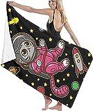 BAOYUAN0 Toalla de Playa para Mujer Hello Kitty Toalla de Playa Toalla de baño súper Absorbente Toalla Grande 80 * 130cm Accesorios para Acampar Manta de Picnic Espacial
