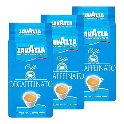 Lavazza DEK Kaffee, Decaffeinato, gemahlener Bohnenkaffee (3 x 250g)