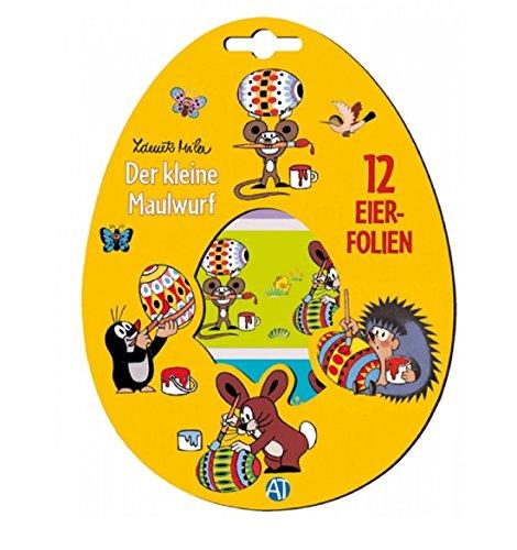 12 Eiersticker - Eierfolien - Eier - Sticker - Eierdeko - Ostern - Maulwurf