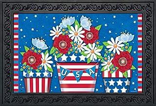 "Briarwood Lane American Planter Patriotic Doormat Primitive Indoor Outdoor 18"" x 30"""