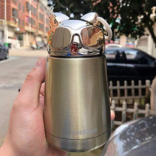 XiaoDong1 Linda Taza de Gato Botella de Agua de Acero Inoxidable Termo frascos de vacío Tazas Botella térmica portátil para Agua-A_300ML (Color : B)