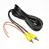 Backup Camera RCA Video Cable,CAR Reverse Rear View Parking Camera Video Cable with Detection Wire (6M)