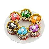 WLDOCA 6 Stück gefälschtes EIS Essen Spielset, Artificial Ice Cream ideal für die Kinder zum Geburtstag und Täuschen Party, Desserts Dekor Prop mit Magneten (Ice Cream Ball)