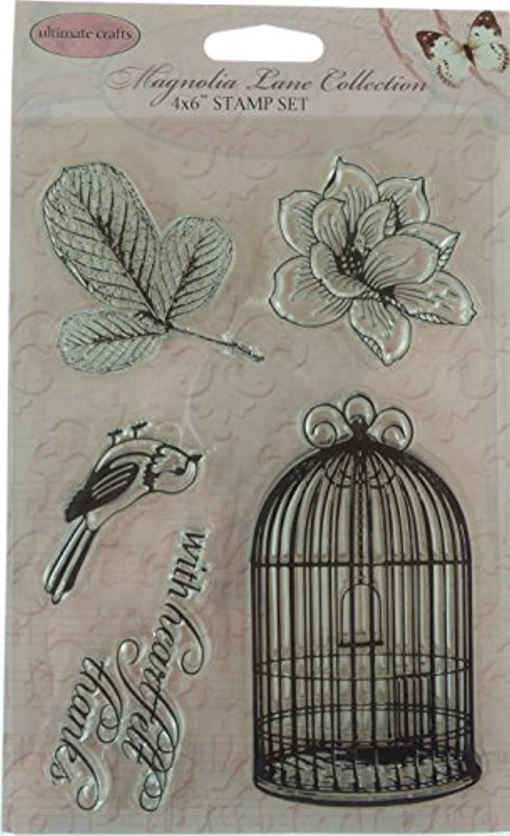 Ultimate Crafts Magnolia Lane - Songbird - 4x6 Clear Stamp Set