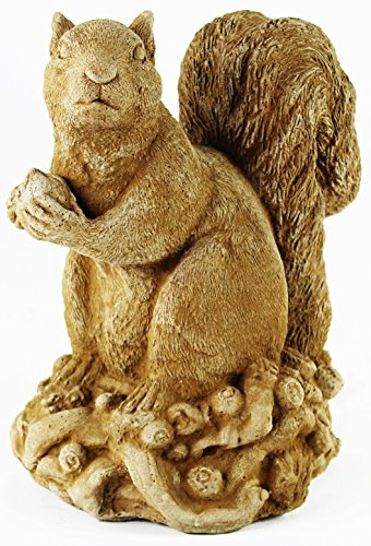 Squirrel with Nut Home and Garden Statues Concrete Animal Statuary
