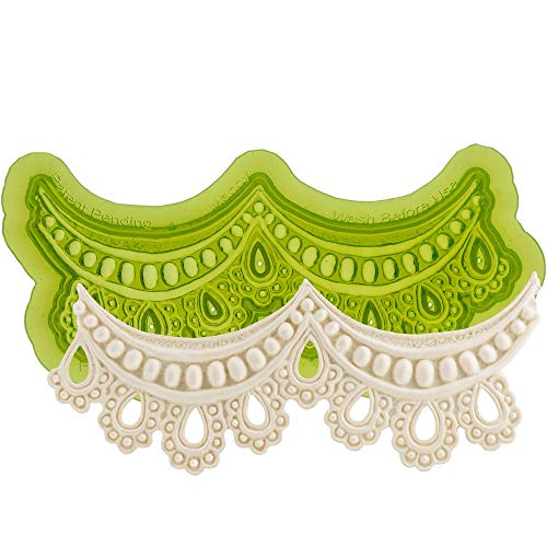 Marvelous Molds Silicone Lace Mold | Mandy | for Cake Decorating with Fondant, Gum Paste and More