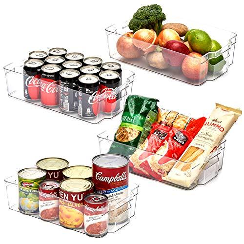 EZOWare Aufbewahrungsbox - Küchenorganizer - transparent - 37 x 21,5 x 10 cm