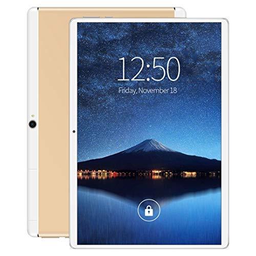 Beada Tableta 10 Pulgadas WiFi Quad-Core 1 + 16GB Android 8.0 Doble Tarjeta SIM 4G 3500Mah (Enchufe de la UE, Oro)