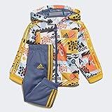 adidas I Shiny FZ HD J Unisex Bebé, Tintec/Oroact, 68