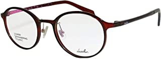 dazzlin ダズリン レディース 軽量 眼鏡 メガネ フレーム DZF2562-3-48 ワイン汎用ケース