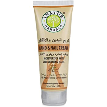Inatur Hand & Nail Cream Moisturises skin & strengthen nails, non greasy formula for all skin types - 100 ml