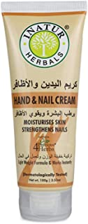 Inatur Hand Cream, Light Weight Formula, Moisturises Skin, Strengthens Nails, 100g