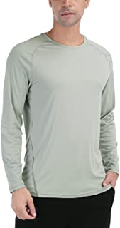 Men's UPF 50+ Sun Protection Shirt Long Sleeve SPF Fishing Hiking Shirt for Men Lightweight UV Protection Clothing