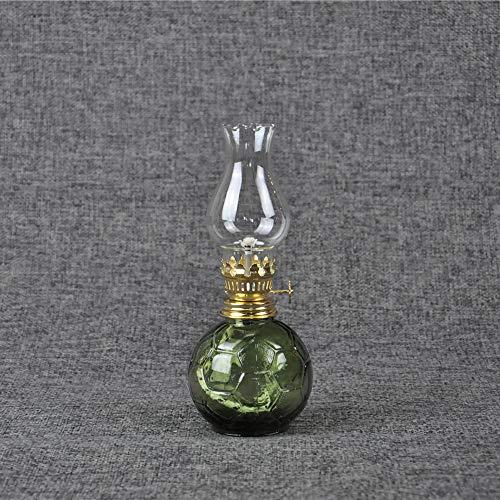 Pur Verre Verre Primaire Lampe De Kérosène Chandelier Éclairage Intérieur Et Extérieur Lampe De Décoration Lampe À Huile (Color : C)