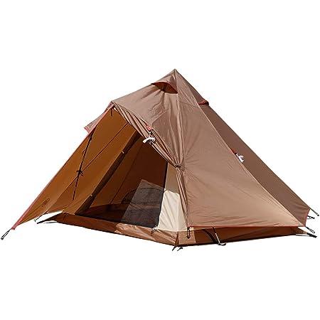 UNP ワンポールテント 軽量 紫外線UVカット 防水 耐水圧 4人用 簡単設営 防水 キャンプ用