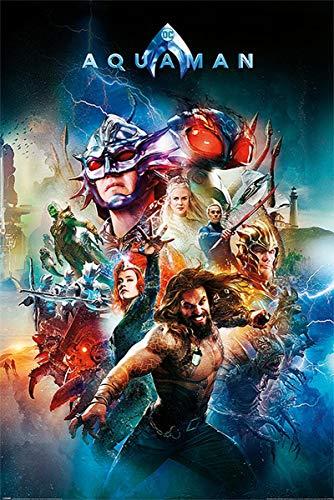 DC Comics Póster Aquaman - Battle For Atlantis (61cm x 91,5cm) + 1 póster Sorpresa de Regalo
