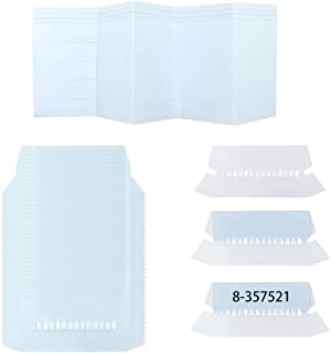 100 Sets Hanging Folder Tabs and Inserts for Quick Identification of Hanging Files, 2 inch Hanging File Inserts