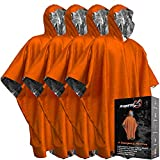 Emergency Blanket Poncho - Keeps You and Your Gear Dry and Warm | Survival Gear and Equipment for Outdoor...