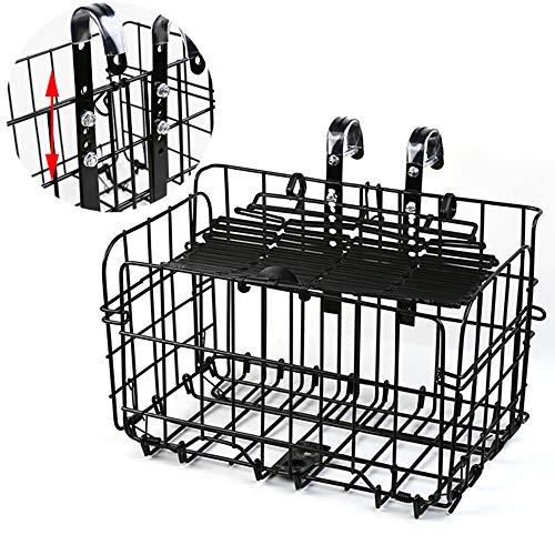 EEKUY Folding Bike Basket, Fiets stalen frame mand hoogte verstelbare belasting 20kg voor mountainbike vouwfiets