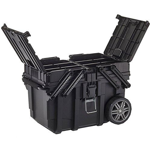 Keter 233743 Job Box - Carro Horizontal, Negro, 62.6 x 35.3 x 39 cm
