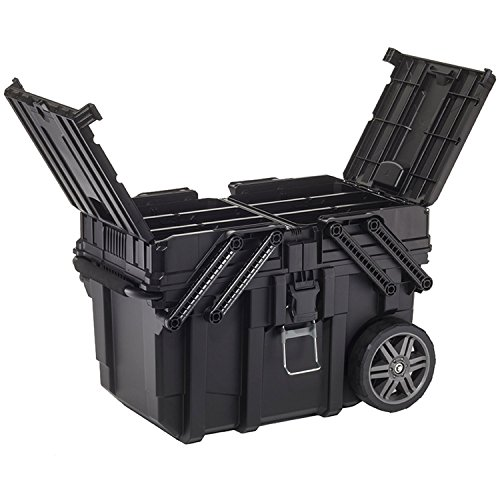 Keter 233743 Job Box - Carro Horizontal, Negro, 62.6 x 35.3