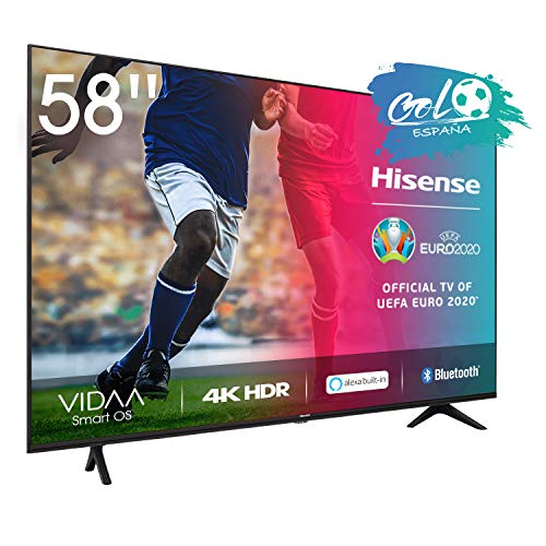 Hisense 58AE7000F - Smart TV Resolución 4K, UHD TV 2020, con Alexa integrada, Precision Colour, escalado UHD con IA, Ultra...