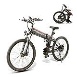SAMEBIKE Bicicletas eléctricas con neumáticos de 26 Pulgadas Bicicletas eléctricas de montaña Plegables 48V 500W para Adultos (Negro)