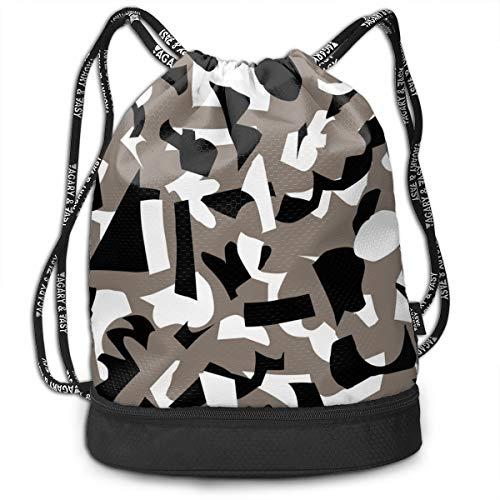 90ioup Abstraktes Papier Schnittmuster Kordelzug Tasche Sackpack Schulterrucksack Bundle Rucksack