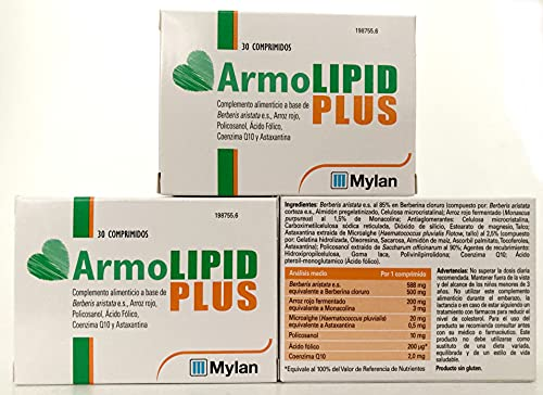 Mylan Armolipid Plus caja de 30 comprimidos .- PACK 3 Cajas (total 90comprimidos)