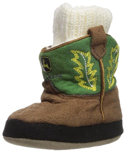 John Deere Baby Boys' Infant Slippers, Green, XS(3/4)