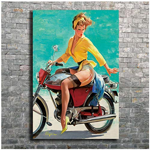 Art Poster Elvgren Pinup Gil Girl Classic Vintage Wall Canvas Print Modern Decoration painting -60x90cmx1pcs - No Frame