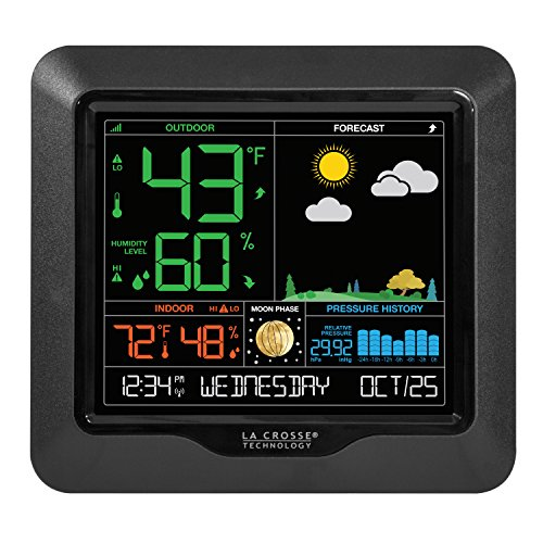 La Crosse Technology S84107-INT Color Forecast Station, Black