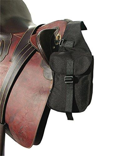 AMKA Packtasche vorne - Vorderpacktasche Satteltasche für Pferde Sattelpacktasche schwarz klein