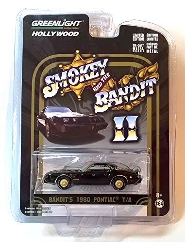 Greenlight 1:64 Hollywood Series Smokey and The Bandit II Bandit's 1980 Pontiac Trans Am Diecast Car