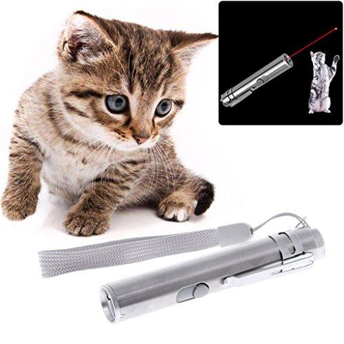 YiFeiCT® 3 1 Cat LED Chase Juguetes Puntero Pen USB