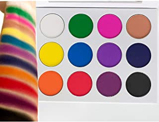 Matte Eyeshadow Palette No Shimmer Highly Pigmented Colorful Primary Rainbow Bright Colors