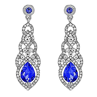 Jarrel Rhinestone Dangle Earrings Drop Sparkling Crystal Earrings for Women Girls