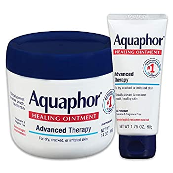 Aquaphor Healing Ointment - Variety Pack Moisturizing Skin Protectant For Dry Cracked Hands Heels and Elbows - 14 oz jar + 1.75 oz tube