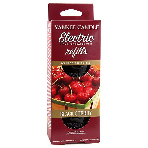 Yankee Candle - Ricarica per diffusore Elettrico, fragranza Black Cherry (Ciliegia Nera)