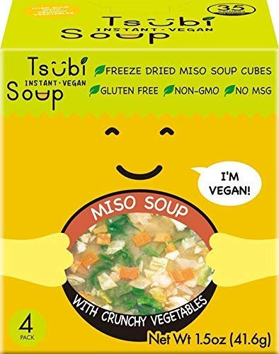 Vegan Instant Miso Soup, LOW CARB NON-GMO GLUTEN FREE, 6 oz Servings, (Spinach,...