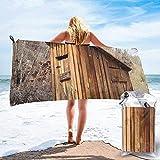 Toalla De Playa De Secado Rápido Old Ancient Outhouse Toallas De Baño Livianas De Microfibra Impresas Adecuado para El Hogar Niños Y Adultos Camping Natación Yoga-27.5'X55'
