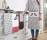KitchenCraft Westie Anpassbare Originelle Kochschürze, Baumwolle, Gelb/ Grau/ Weiß, 31 x 69 x 89 cm, 1 Einheiten - 3