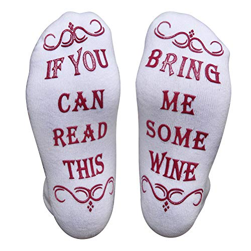 If You Can Read This Socks Funny Wine Gift- women gift ideas or Mens - wine socks the perfect hallmark christmas socks gifts for her or secret santa gifts