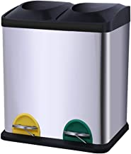 SDHKE Organize It All Dual Compartment Step-On 8-Gallon (30 Liter) Recycling Trash Can, Stainless Steel (Size : 31 * 26.5 ...