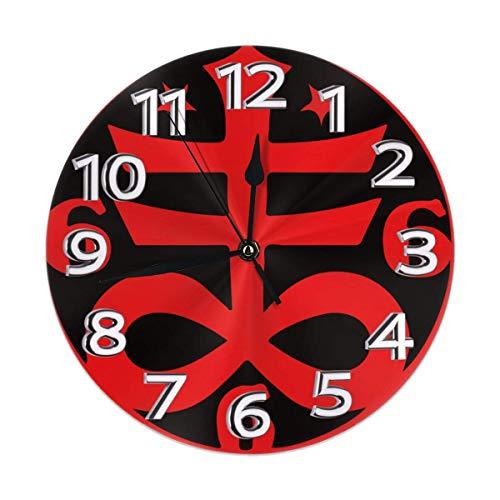 Eileen Max Símbolo de Cruz satánica Oculta gótica Ronda Inicio Reloj de Pared Decoración Cocina Interior Personalidad