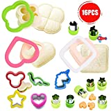 Sandwich Cutter and Sealer, Sandwich Cookie Sealer and Decruster, Vegetable Cutters Shapes, Great for Kids, Boys and Girls Lunchbox,Bento Box