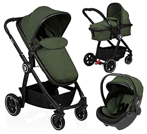 Baninni Kinderwagen Otto 3 in 1 Olive Green