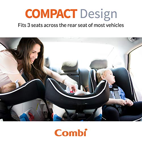 Combi Coccoro Streamlined Lightweight Convertible Car Seat| 3 Across in Most Vehicles| Ideal for Compacts | Quick Install | 50% Lighter Than Other Leading Brands| Tru-Safe Impact Protection| Licorice